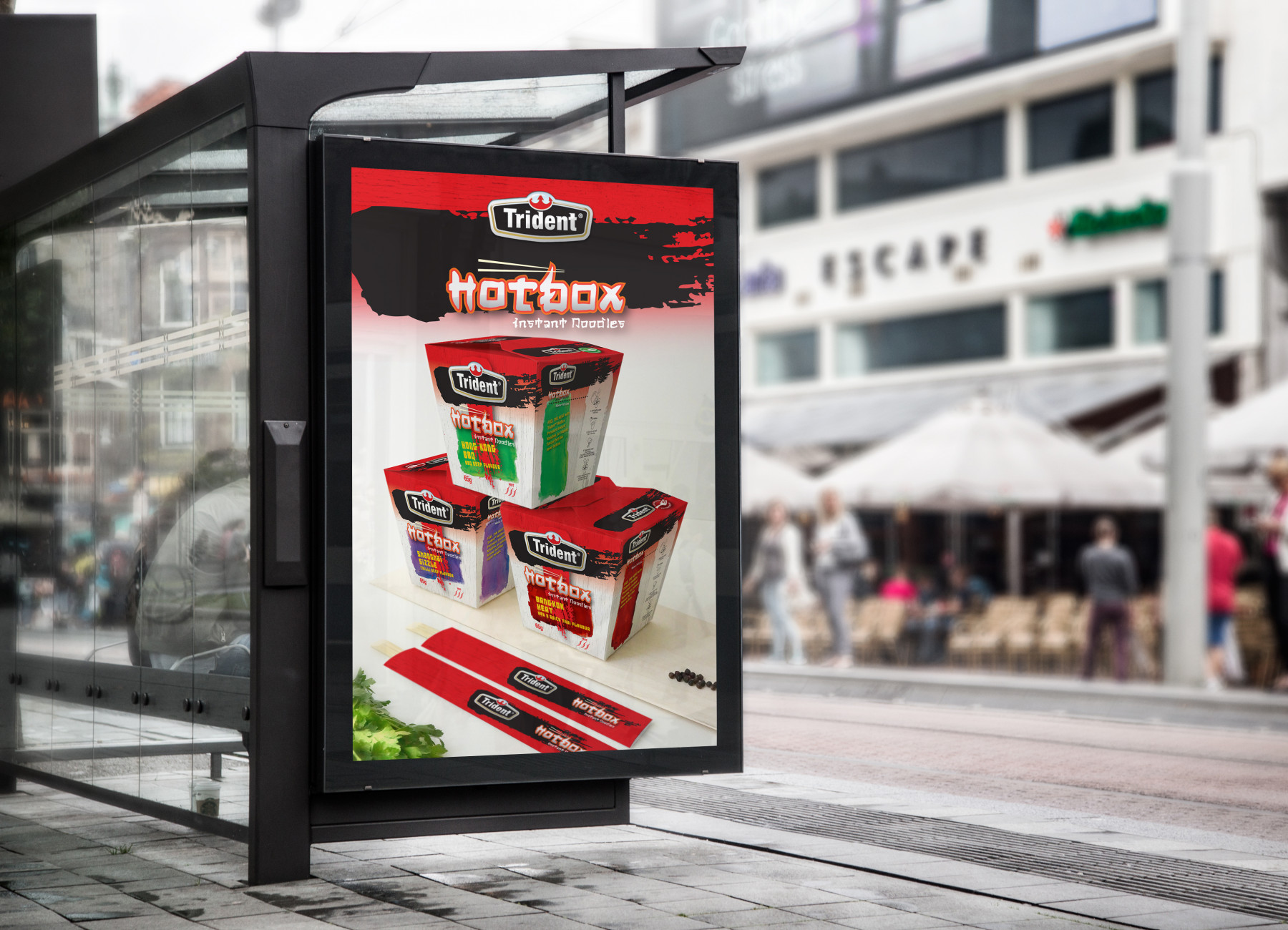 Trident Hotbox Bus Stop Billboard